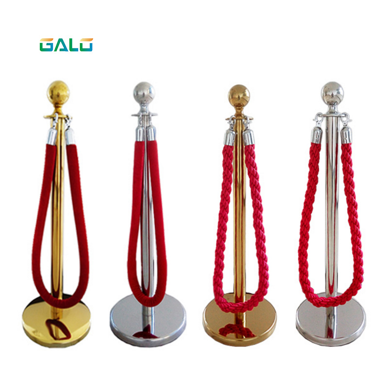 1.5M Flannelette Sling Rope For Greeting Queue Column, Hotel Welcome Concierge Column, Rod Fence, Round Head