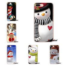 For Sony Xperia Z Z1 Z2 Z3 Z5 compact M2 M4 M5 C4 E3 T3 XA Huawei Mate 7 8 Y3II Holidays Snowman 1 Soft Transparent Shell Covers(China)