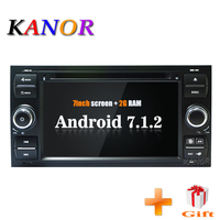 Android 7.1 Quad core RAM 2G 2din Car Radio DVD Player For Ford Mondeo S max Focus C MAX Galaxy Fiesta Form Fusion Connect PC