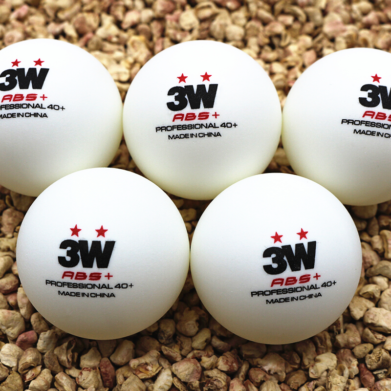 100 balls SANWEI table tennis ball 3w 2 star 40 ABS pro plastic seamed new material poly ping pong ball tenis de mesa in Table Tennis Balls from Sports Entertainment