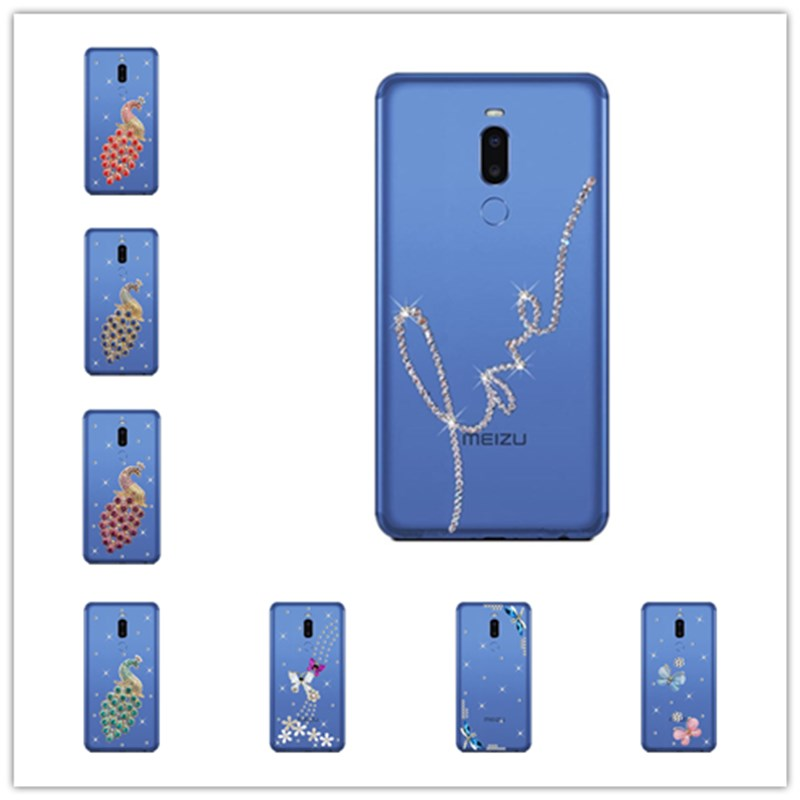 Luxury Bling Crystal Diamond Rhinestone Case for <font><b>Meizu</b></font> note 8 note 9 <font><b>C9</b></font> <font><b>PRO</b></font> M6T M5S M6s <font><b>Meizu</b></font> <font><b>Pro</b></font> 5 6 7 plus 16 Plus 15 Lite image