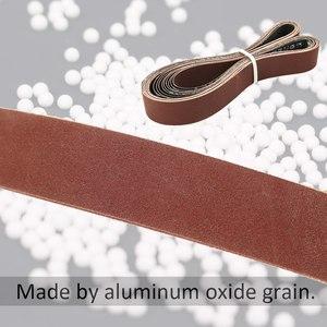Image 3 - 10pcs Abrasive Sanding Belts 400 Grit 762 * 25 mm for Electric Belt Sanders Bench Grinder Grinding Polishing Tool