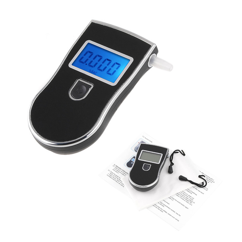 Digital LCD Backlit display Breathalyzer blowing Keychain sobriety Alcohol Tester Portable alcohol detector Drunk driving test