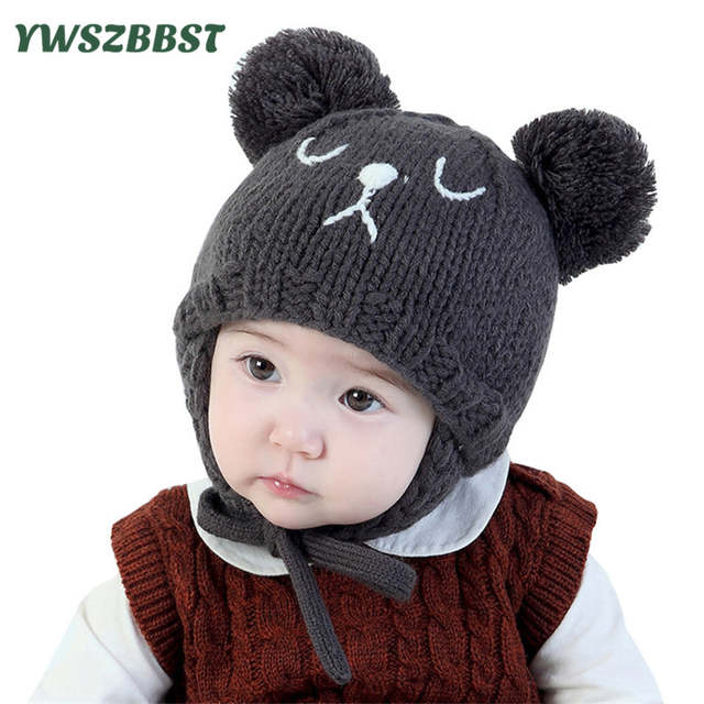 131f100df64d7 Cute Baby Hat Crochet Baby Caps for Girls Kids Beanies Baby Hats for Boys  Autumn Winter Knit hats 6 Months to 3 Years old