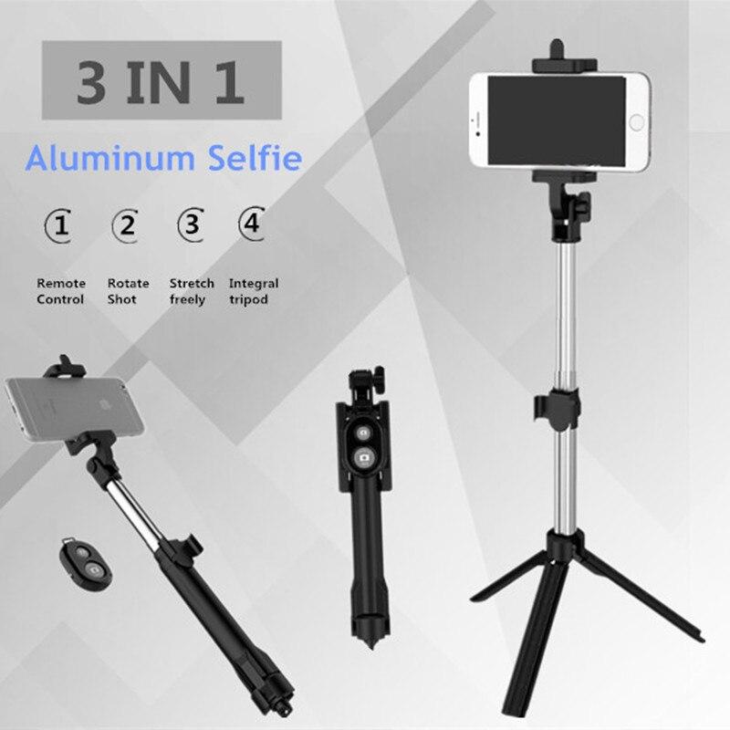 FGHGF T1 remoto Bluetooth Selfie Palo extensible Mini Monopod trípode Universal Pau De Palo, selfie Palo para el iphone 6 7 8