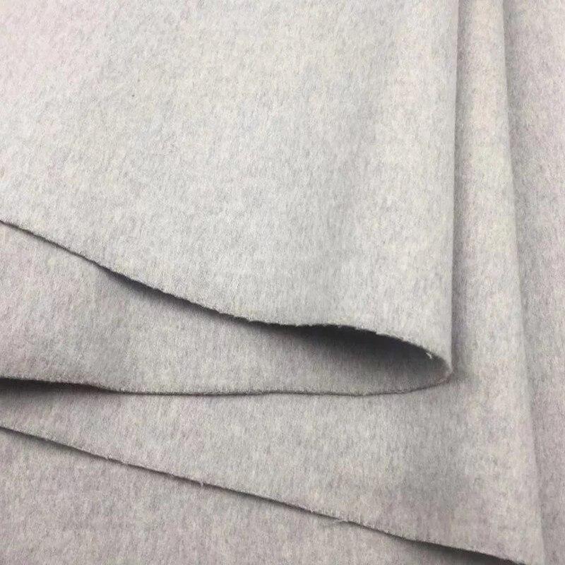 Двусторонняя 100% шерстяная ткань для пальто см 150 г 830 см Ширина бежевый серый розовый фиолетовый синий цвета 2 м распродажа