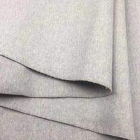 Двухсторонняя 100% шерстяная ткань для пальто 830 г 150 см Ширина бежевый серый розовый фиолетовый синий цвета 2 метра в продаже