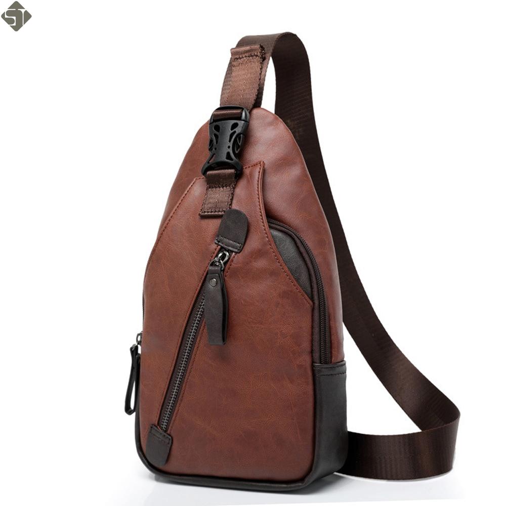 Fashion Leather Men Messenger Bags Cross Body Shoulder Chest Bags Packs  Water Shape Favorite Crossbody Brand b620c7e45c9d2