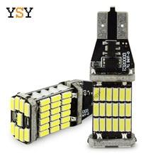 2 pces canbus livre de erros 921 912 t10 t15 smd 4014 45smd chipsets lâmpadas led para backup do carro reverso luzes