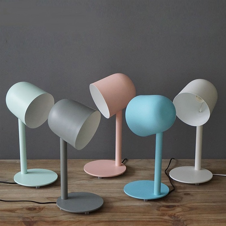 US $115.0 |modern white blue table lamps living room Nordic study table  lamp eye study pink bedroom beside desk lamps table light ZA8242-in Table  ...