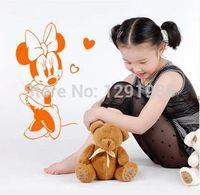Darmowa wysyłka DIY winylu wallsticker Mickey Minnie Mouse okno tapety do pokoju dzieci Balony miłość naklejki plakat home kalkomanie