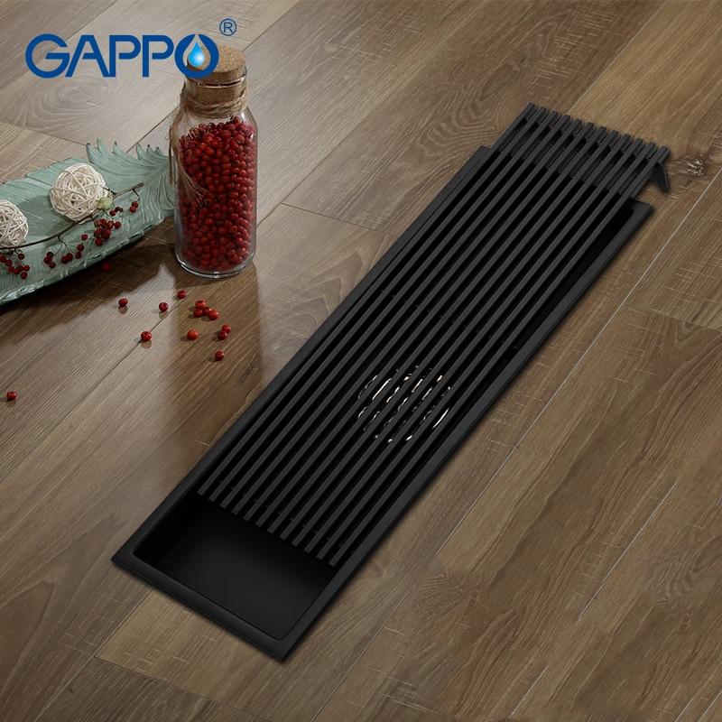 GAPPO Drains bathroom shower floor drains floor cover anti-odor recgangle shower drain strainer black bathroom waste drain цена