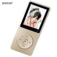 DOITOP 1.8 ''Mini 8 GB Lecteur MP3 Haut-Parleur Lecteur Vidéo FM Radio enregistreur micro usb MP3 Lecteur de Musique peut jouer 80 h Ultra-Mince mp3 A3