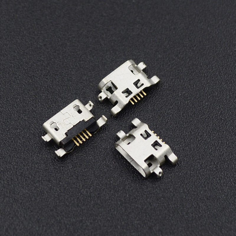 10pcs Micro <font><b>USB</b></font> 5pin B type Female Connector For HuaWei Lenovo Phone Micro <font><b>USB</b></font> Jack Connector 5 <font><b>pin</b></font> Charging Socket image