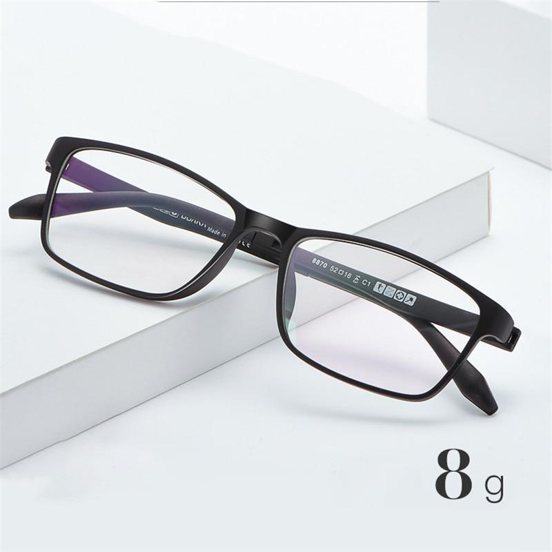 Vazrobe 8g Eyeglasses Frame Men Women Ultra-light No Screw Glasses Man Black Prescription Spectacles Eyeglass for Optic Lens