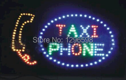 2017 Sale New Arrival custom Graphics 24x13 Inch indoor Ultra Bright flashing Led taxi phone Sign