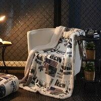 Cobertor Londres Padrão Carro Macio de alta Qualidade Respirável Confortável Sofá/Avião/Cama de Viagem Mais Cor Opcional