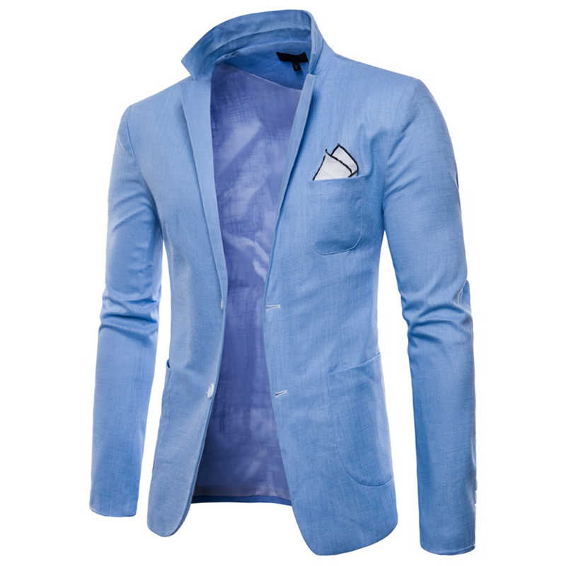 3349ffc1a59 2018 New Brand Wholesale 9 Colors Men Blazers Slim Fit Single Button Male  Blazers White Men