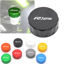 With Logo Aluminum Motorcycle Accessories Rear Brake Fluid Reservoir Cap Oil Cup For YAMAHA YZFR125 YZF R125 2014 2015 2016 2017(China)