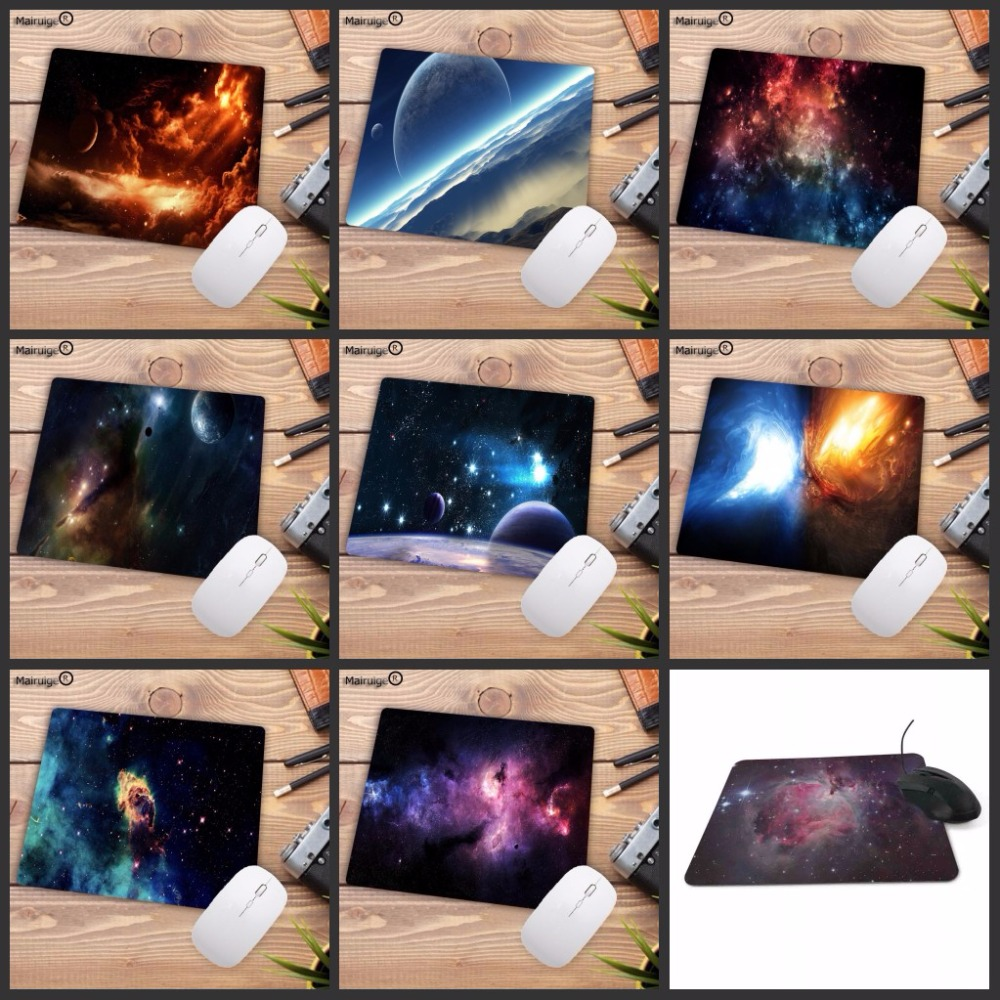 Mairuige Outer space stars nebulae space art wallpaper Anti-Slip Gaming Speed Mouse Pad 180x220x2mm Cool Design mouse pad наклейка на стену space art