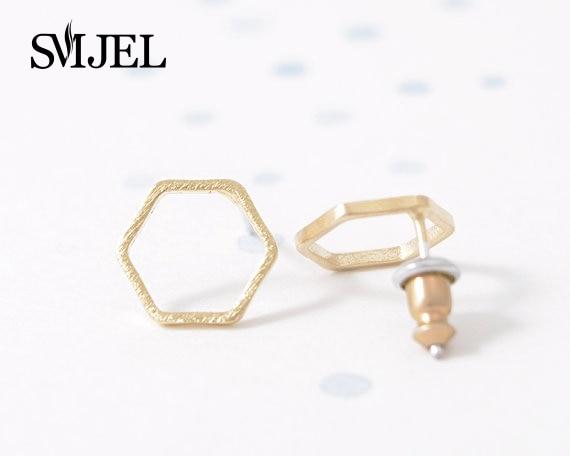 71d13b3e16b8 Smjel moda al por mayor simple geométrico hexágono Pendientes de broche para  las mujeres Accesorios joyería para regalos 10pcs-s043