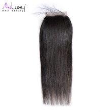 AILUXY HAIR BEAUTY Brazilian Straight hair Swiss Lace Closure 4*4, Virgin hair 8-18 inch(China)
