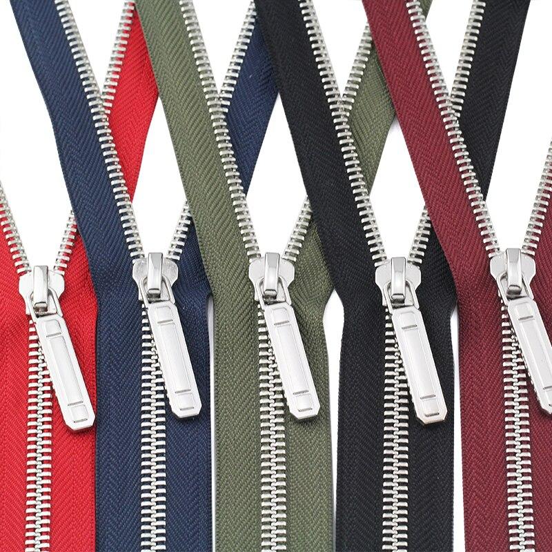 #8 60/70/80/90/100/120/150 cm open-end auto serrure en métal cuivre placage de platine coloré Y Dents fermetures à glissière pour les vêtements vêtement
