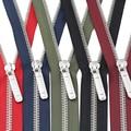 #8 60/70/80/90/100/120/150cm open-end auto lock metal copper platinum plating colorful zippers for clothes garment