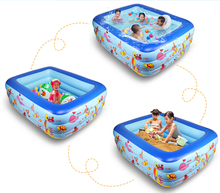 Eco-friendly High Quality Home Use Paddling Pool Large Inflatable Square Swimming Pool Heat Preservation Kids portable tub 2.5M(China)