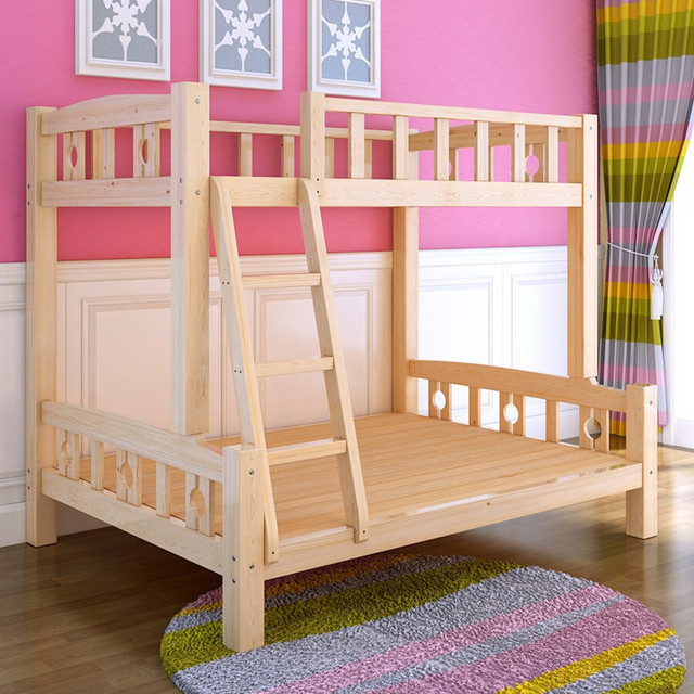 Cheap Direct On Pine Wood Bunk Beds Children Bed Picture Height Factory In