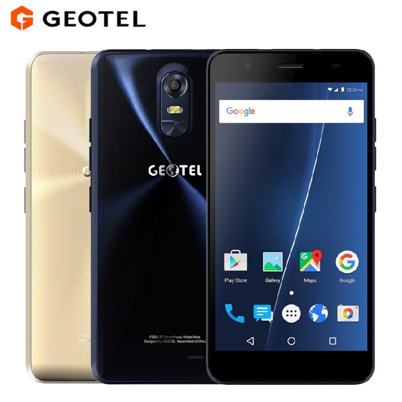 Original GEOTEL Nota Teléfono Móvil 5.5 pulgadas HD 3 GB RAM 16 GB ROM MTK6737 Q