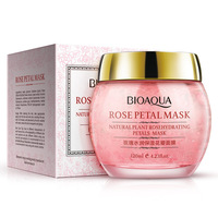 BIOAQUA Rose Petals Sleep Mask Fade Out Fine Lines Face Mask For Face Care Anti Oil