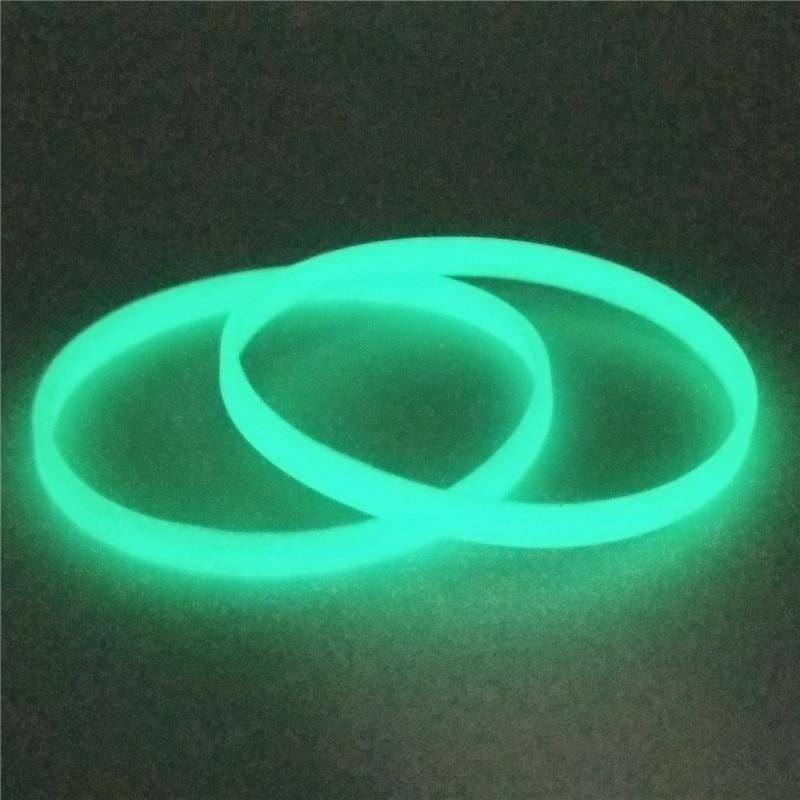 1 St 5mm Glow In Dark Siliconen Polsbandje Unisex Manchet Snoep Kleur Neon Fluorescerende Lichtgevende Rubber Armbanden En Armbanden Sh279