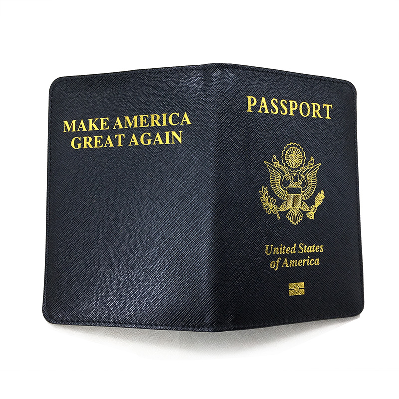 custom Available 2019 Official Alert Unisex Soild Dark Red Soft Oil National Passport Cover Built In Rfid Blocking Protect Personal Information