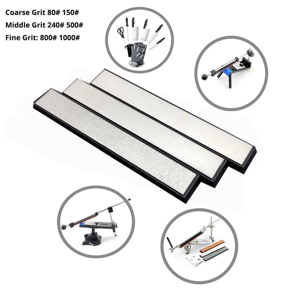 1 Set 3pcs Kitchen Tool Knife Sharpener Edge Diamond Whetstone Sharpening Stones for Ruixin Pro Knife Sharpener System