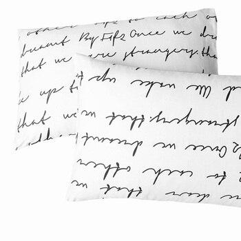 Brief kissenbezüge valentinstag Geschenk Kissenbezug gesetzt 2 Teile/para 50 cm x 70 cm 50cmx75cm70x70 Dekorative Bettwäsche Weiß Schwarz gelb