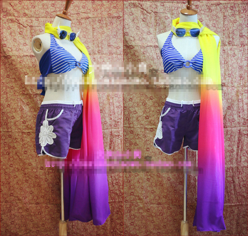 2018 hot game LOL cosplay Fiora Leona Miss Fortune Cosplay Costume For Pool Party Custom Made for women 1