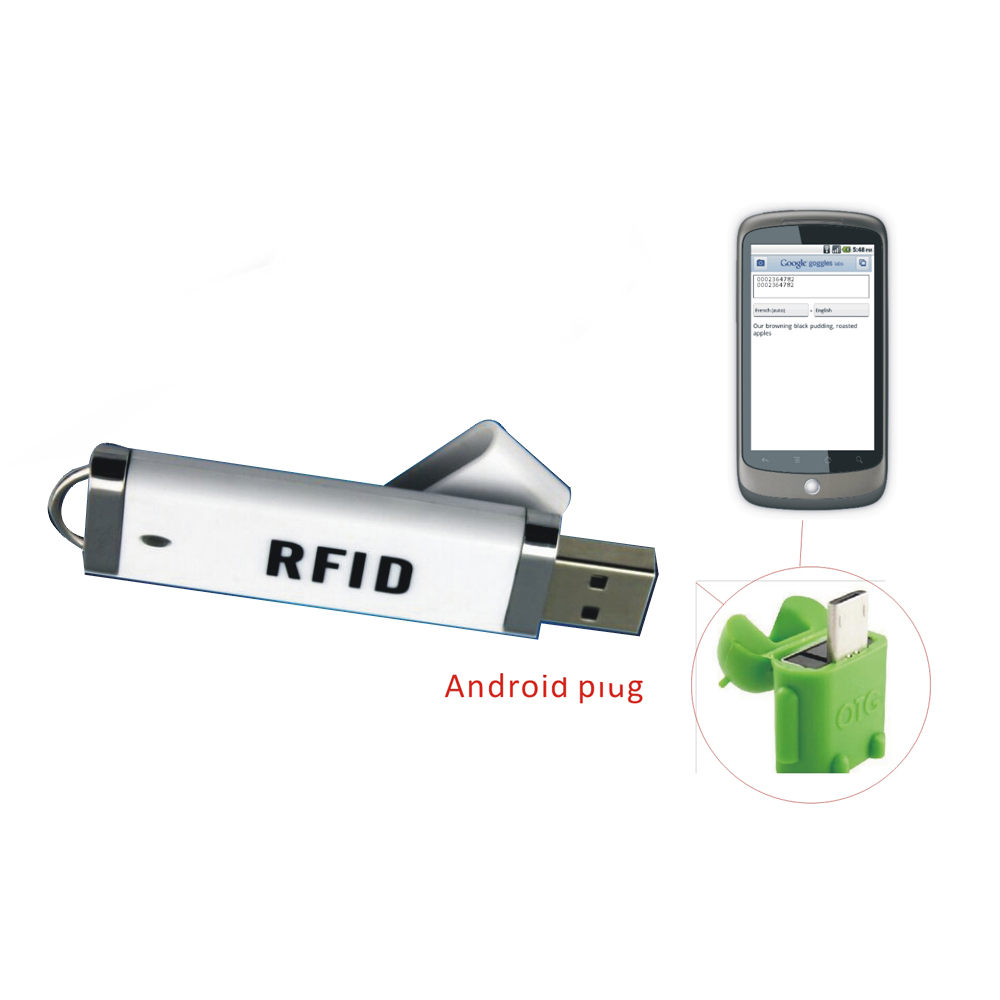 Micro mini RFID reader 125KHZ ID reader / USB 8H10D Support Android /iphoneos/ ipad/windows+5pcs card