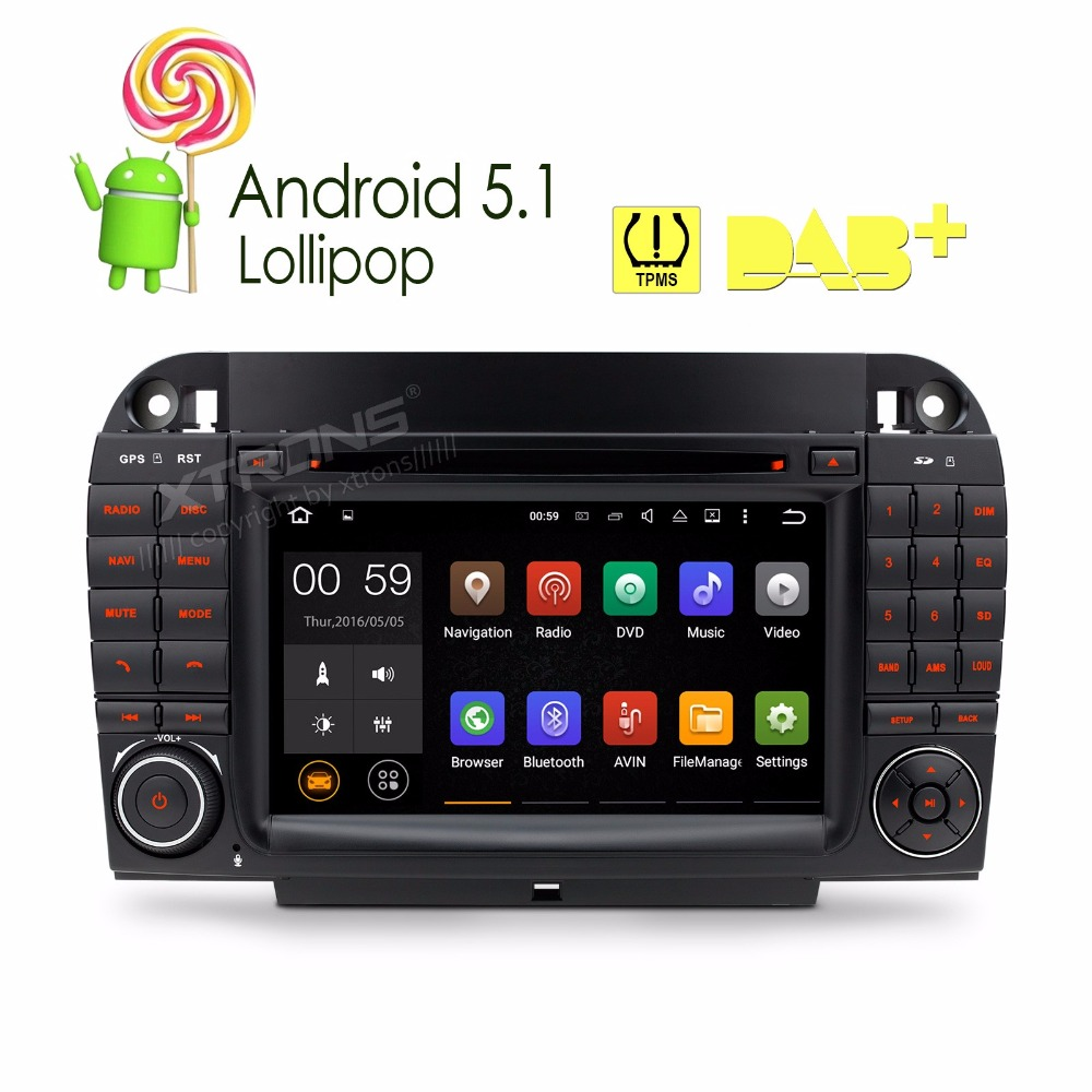 7″Android 5.1 Lollipop 64Bit Quad Core Car DVD Player for Mercedes-Benz S-Class W220 1998-2005 (S280 S320 S350 S400 S430 S500)