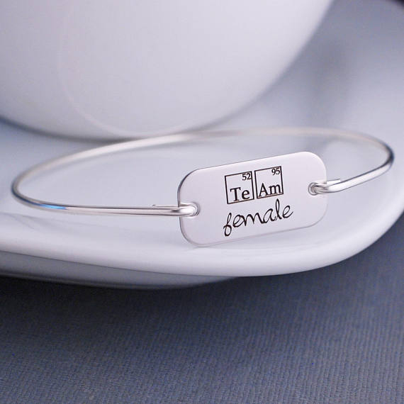 Team female periodic table elements bangle bracelet science jewelry team female periodic table elements bangle bracelet science jewelry inspirational jewelry womens empowerment jewelry yp3763 in bangles from jewelry urtaz Images