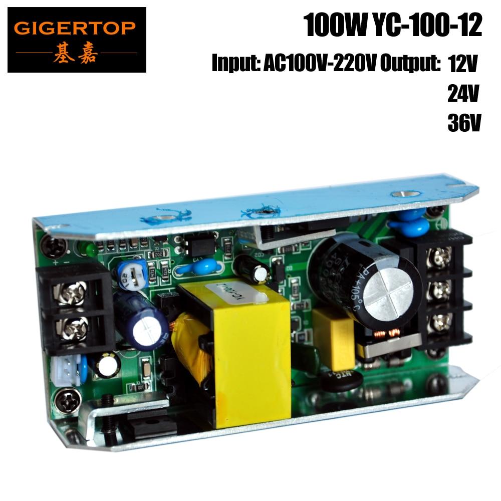 TIPTOP YC 100 12 100W Power Supply Board For 54x1W Led Par Light 54x0 75W Led
