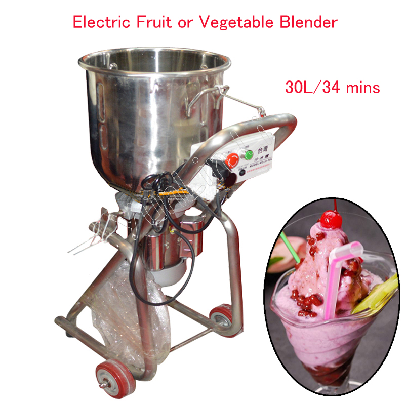 30L Electric Fruit/ Vegetable Mixing Machine 2200W Commercial Blending Mixer Machine Ice Crusher Jam/ Shake Maker 200V  A-30L