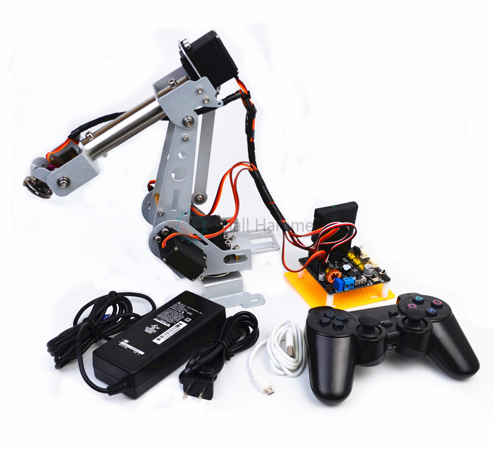 New arduino remote control PS2 stainless steel robotic arm 6 DOF robot 6 dof robotic arm model motor servo cnc all metal robot arm structure servos industrial robot diy rc toy uno