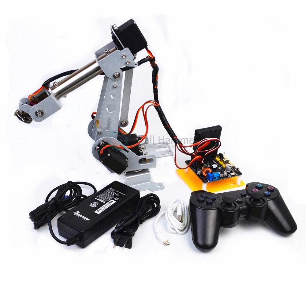 Nuovo arduino telecomando PS2 in acciaio inox braccio robotico 6 DOF robot