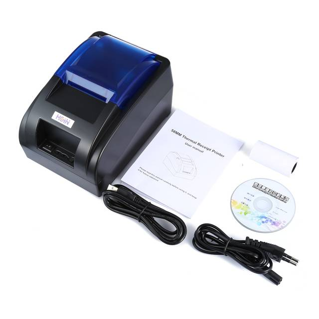 HOIN HOP-H58 USB/Bluetooth Thermal Printer Receipt Printing Instrument  Support Android/IOS Compatible with Epson ESC/POS EU Plug