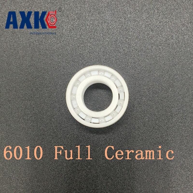 Axk 6010 Full Ceramic Bearing ( 1 Pc ) 50*80*16 Mm Zro2 Material 6010ce All Zirconia Ceramic Ball Bearings цена