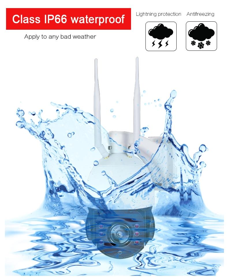 YobangSecurity Solar Power Battery 1080P 2.0M 5x Optical Zoom Surveillance CCTV Camera Outdoor Waterproof WIFI IP Camera 4G SIM