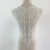 1Piece Ivory White Lace Applique Neckline Collar Appliques Embroidery Lace Trim Fabric Cloth Sewing Patchwork DIY
