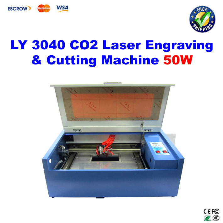LY 3040 CO2 Laser Engraving machine 50W, Laser Cutting machine, with honeycomb newest ly 4040 co2 laser engraving machine 50w laser tube laser cutting machine free tax to russia