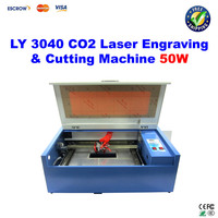 LY 3040 CO2 Laser Engraving machine 50W, Laser Cutting machine, with honeycomb